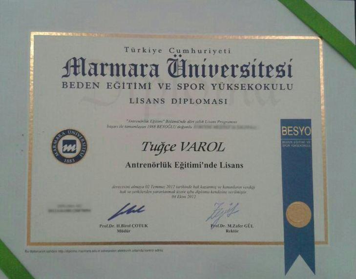 tugce-varol-spor-akademisi-diploma